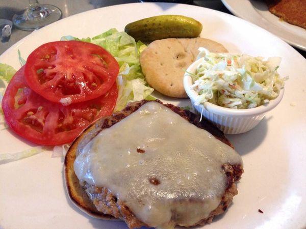 "A ""skinny"" turkey burger at Landmark Diner in"