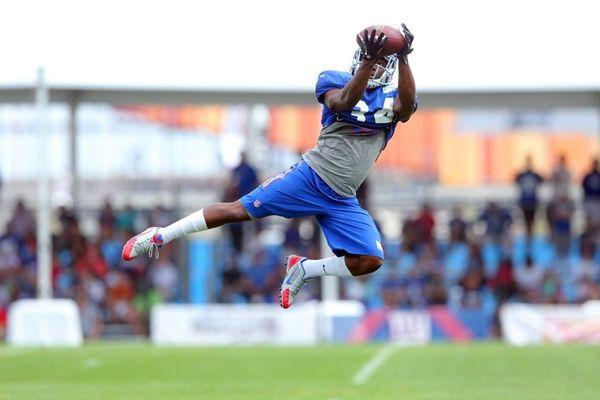 Giants safety Nat Berhe #34 makes a catch