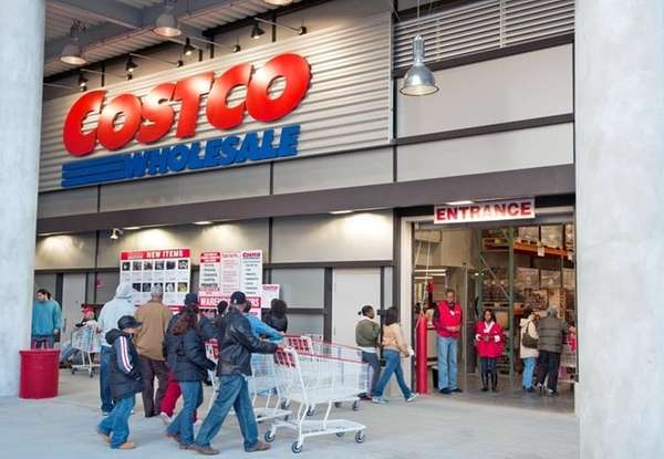 Customers walking into Costco.