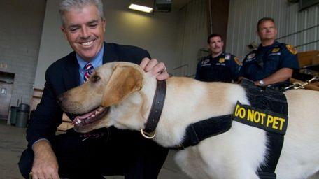 The Vapor Wake Explosive Detection Canine named Unser,