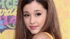Ariana Grande arrives at the 27th annual Kids'