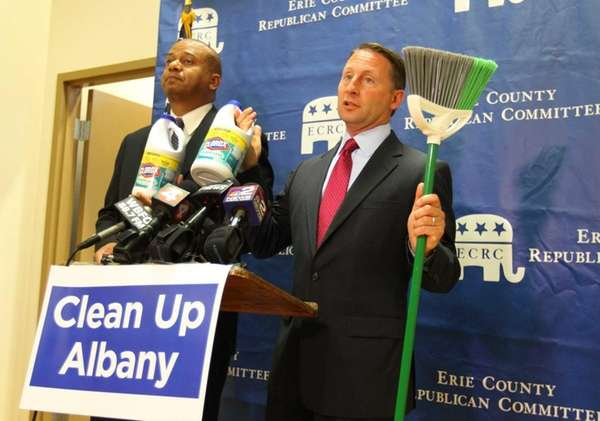 GOP gubernatorial candidate Rob Astorino and his running