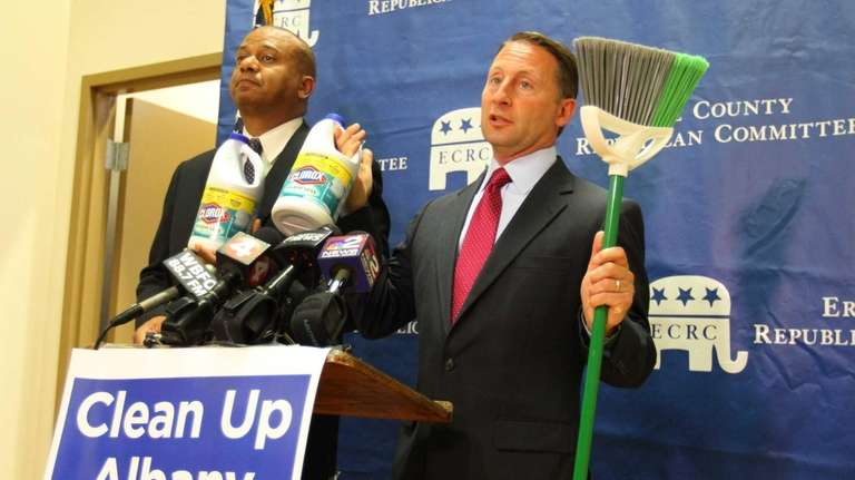 GOP gubernatorial candidate Rob Astorino and his running