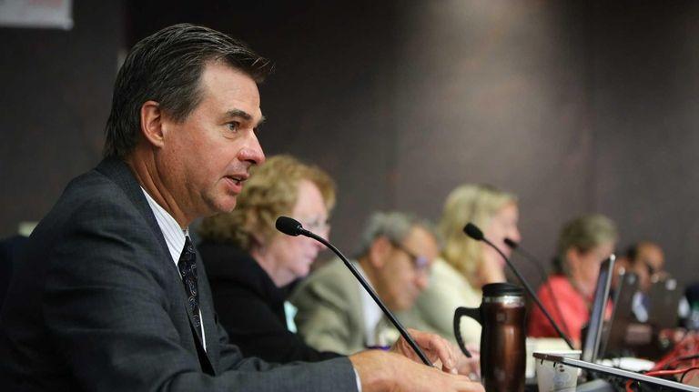 Legislator Al Krupski speaks during a public hearing