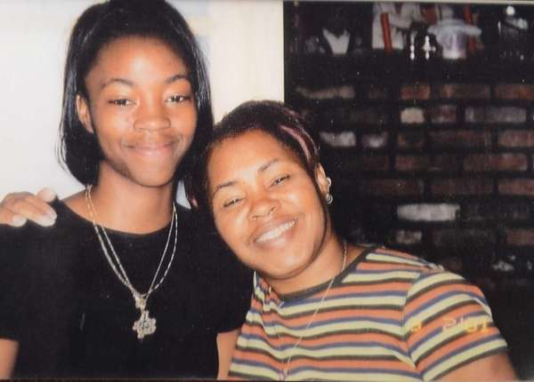 Santia Williams, left, poses with her mother, Phyllis