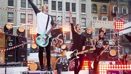 Australian boy band 5 Seconds of Summer performs