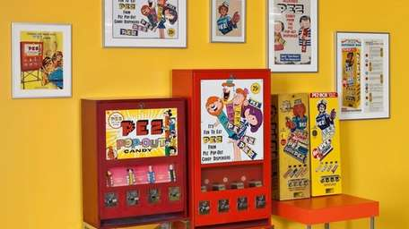 Vintage vending machines at the visitor center at