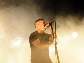 Trent Reznor of Nine Inch Nails performs during