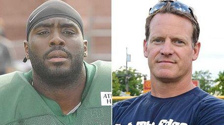 The Jets' Demario Davis and Chaminade coach Stephen