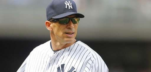 Yankees manager Joe Girardi looks on during a