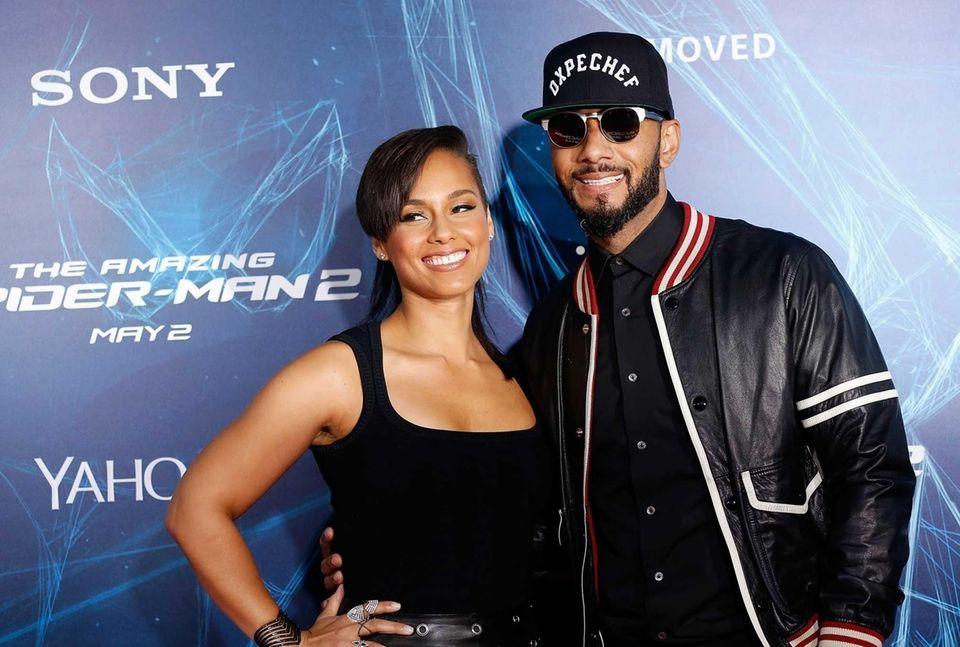 Musicians Alicia Keys and Swizz Beatz married in