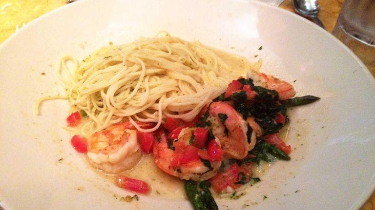 Lemon garlic shrimp from the Skinnylicious menu at