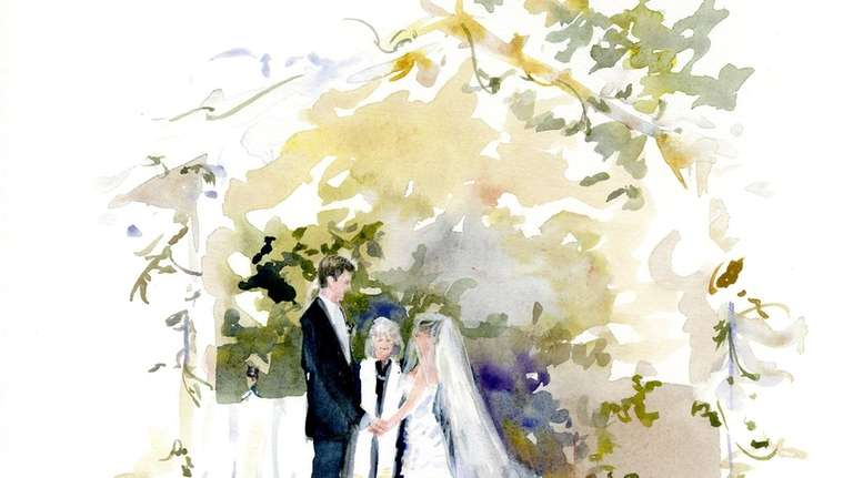 Anne Watkins will paint your wedding in real