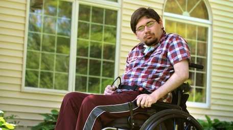 Ted Tiller, 23, who has mitochondrial disease, lives
