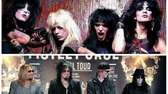 Motley Crue, circa the mid 1980s (top), and