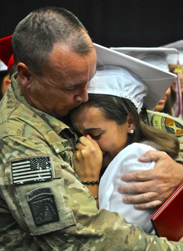 Army Lt. Col. Richard Davis reunites with his
