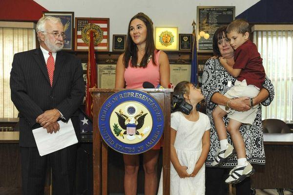 Congressman Tim Bishop and deceased U.S. Army veteran