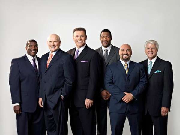 The Fox NFL Sunday on-air team, from left: