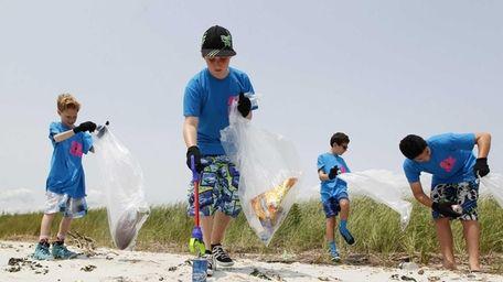 Alex Flyer, 11, left; Marc Paillex, 12; Brian