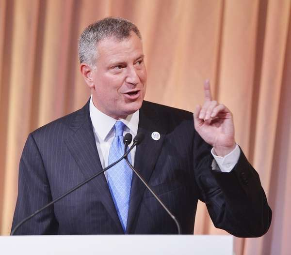 Bill de Blasio on June 12, 2014.