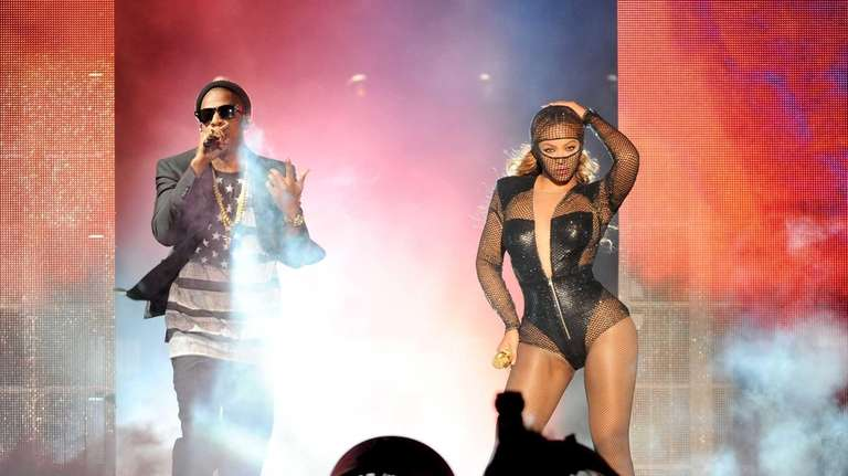 Beyonce and Jay Z perform during their On