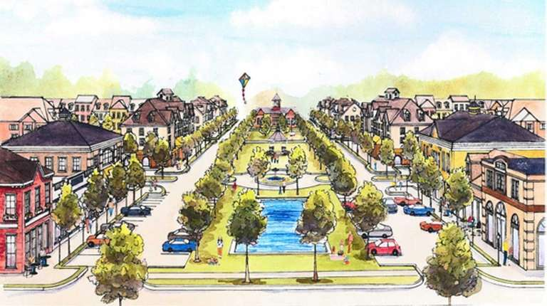 An artist rendering of the Meadows at Yaphank,