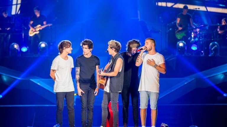 One Direction during their concert at MetLife Stadium