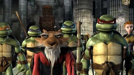 The Turtles, Splinter, April and Casey reflect on