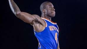 Thanasis Antetokounmpo of the Knicks poses for a