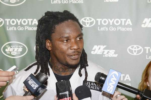 Jets running back Chris Johnson during training camp