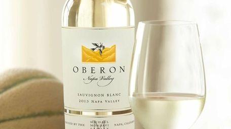The bright 2013 Oberon Sauvignon Blanc Napa Valley
