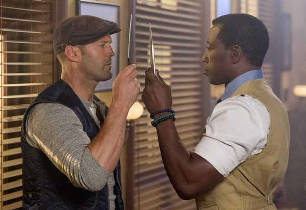 Jason Statham (left) and Wesley Snipes in