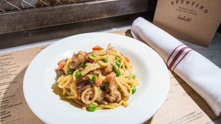 Classic spaghetti carbonara is rich and satisfying at