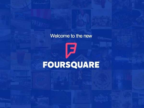 A screenshot of Fourquare's Web page.