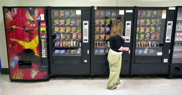 A vending machine.