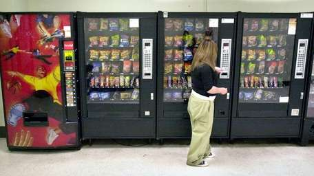 A vending machine.