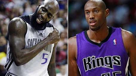 The Knicks acquired Quincy Acy, left, and Travis