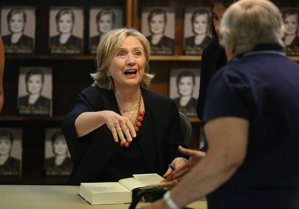 Hillary Clinton signed copies of her book