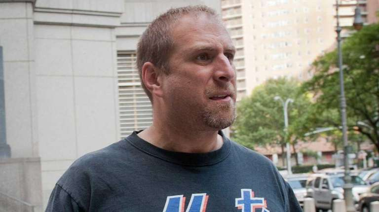 Justin Romano leaves federal court in Manhattan Thursday,