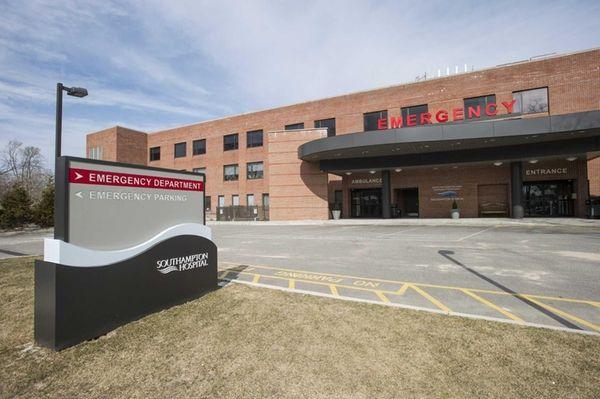 The emergency entrance to Southampton Hospital in Southampton,