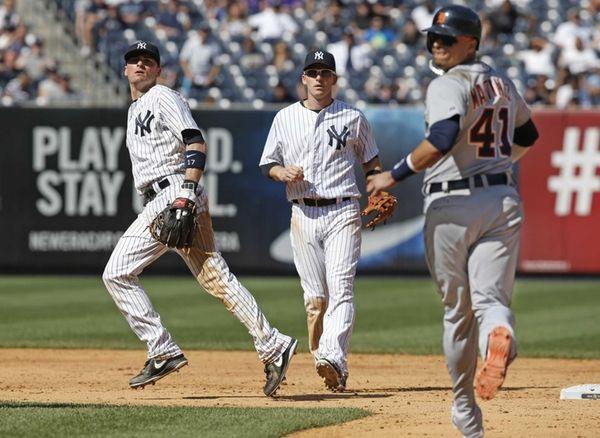 Detroit Tigers designated hitter Victor Martinez (41), Yankees