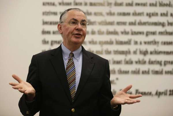 Wake Forest University president Nathan O. Hatch, chair