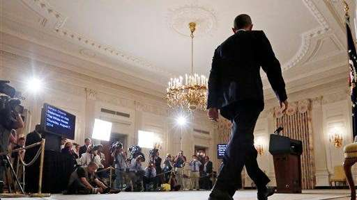 President Barack Obama approaches the podium to speak