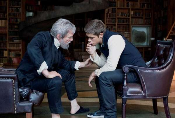 Jeff Bridges as The Giver, left, and Brenton