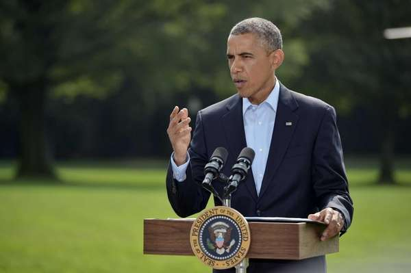 President Barack Obama delivers a statement on Iraq
