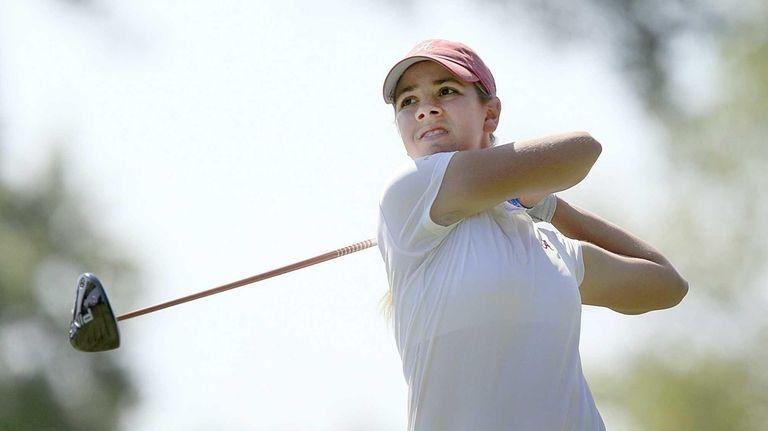 Kristen Gillman of Austin Texas tees off on