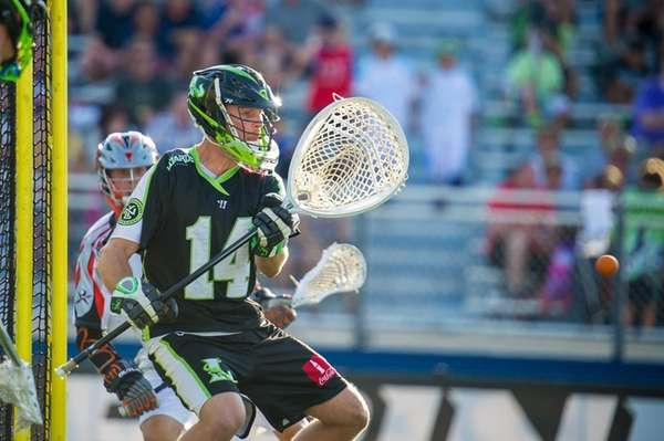 New York Lizards Goalie Drew Adams (14) makes