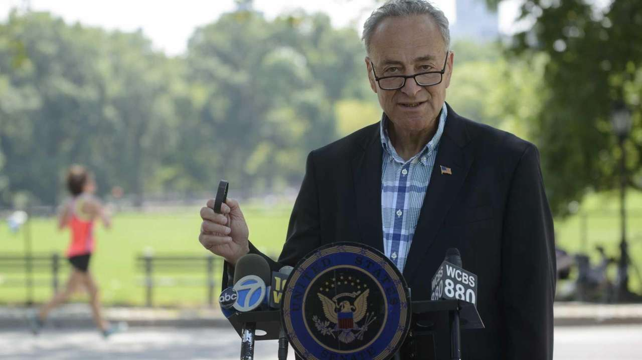 Sen. Charles Schumer says people who use fitness-monitoring