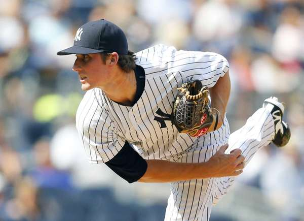 Bryan Mitchell pitches against the Cleveland Indians at