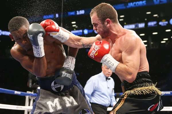 BROOKLYN, NY - AUGUST 9: Daniel Jacobs (Navy